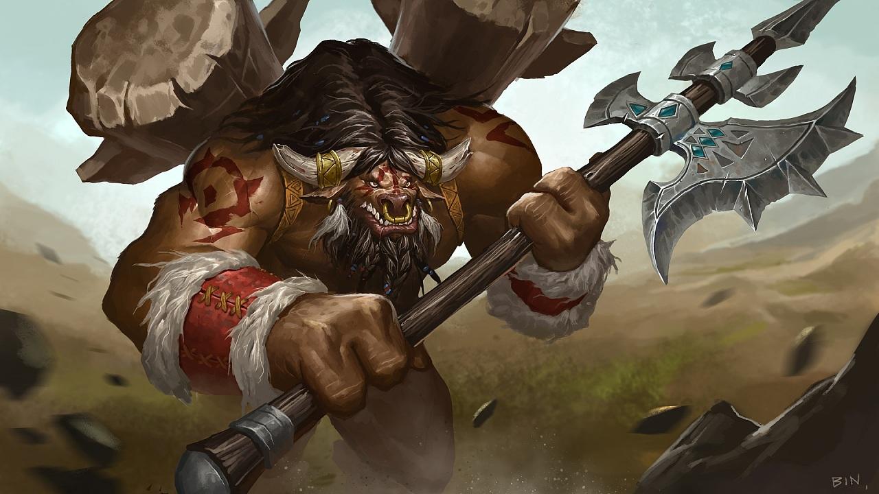 魔兽英雄系列之牛头人酋长凯恩·血蹄_新浪看点