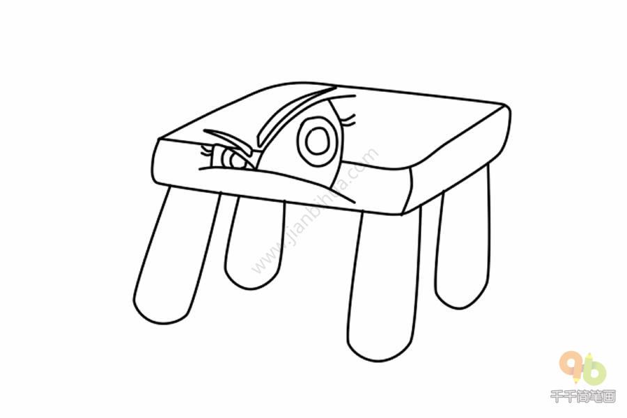 表情 表情包愤怒的板凳简笔画千千简笔画人人都能轻松画简笔画图片大