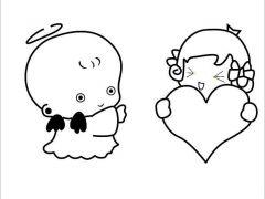 表情 简笔情侣小人图片 9张 简笔画 表白图片网 表情