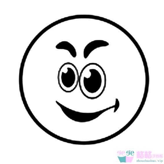表情 简笔画表情图片 哭笑难过表情简笔画 3 格格 表情