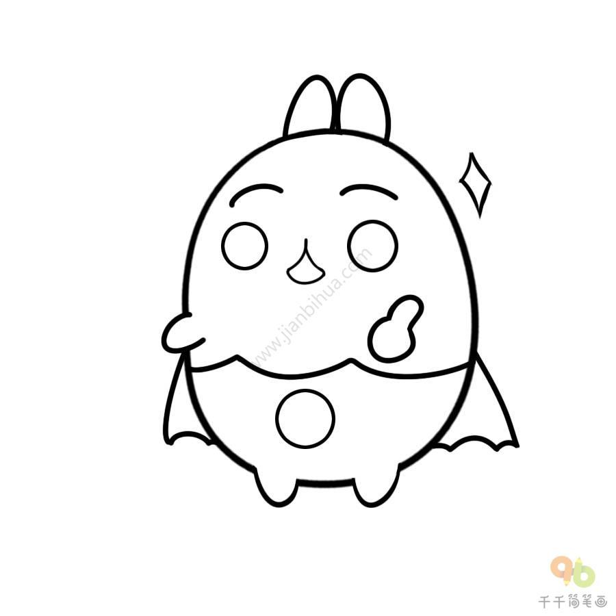表情 土豆兔棒棒哒表情包简笔画大全千千简笔画图片教程 表情