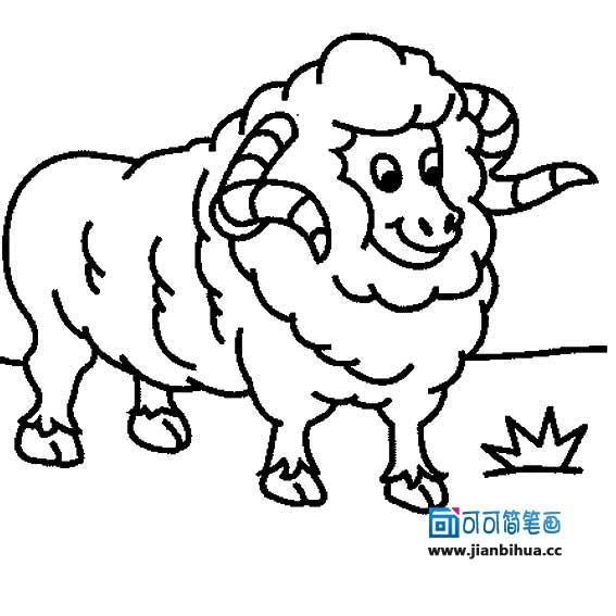 表情 卡通小绵羊简笔画图片大全幼儿画羊简笔画十二生肖羊 最新好看的图片 网络  表情