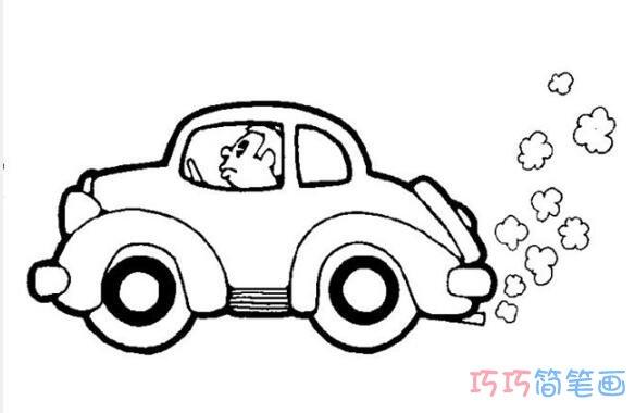 表情 卡通小汽车怎么画简单好看 汽车简笔画图片 巧巧简笔画 表情