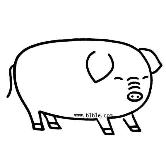 表情 小猪简笔画 奔跑网 表情