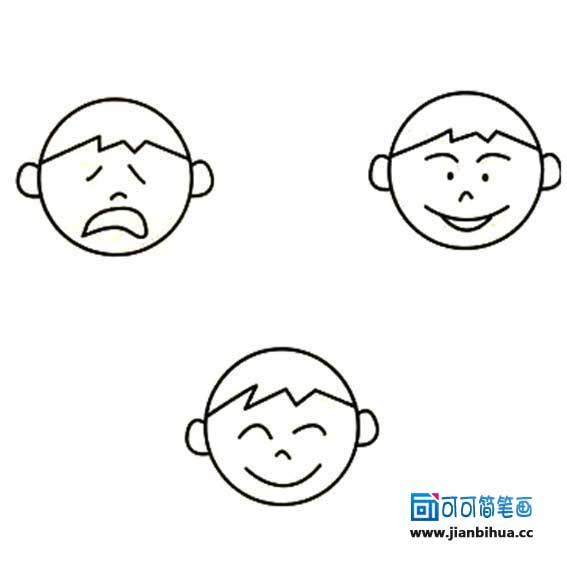 表情 画小男孩简笔画图片大全 小男孩头像简笔画 头像大全 表情