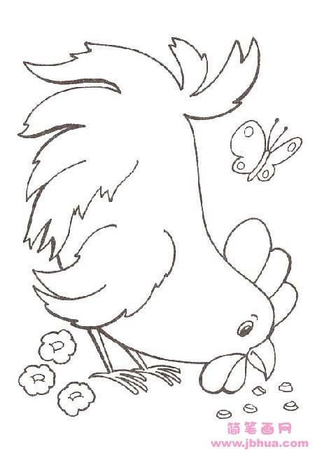 表情 少儿母鸡啄米简笔画图片 简笔画网 表情