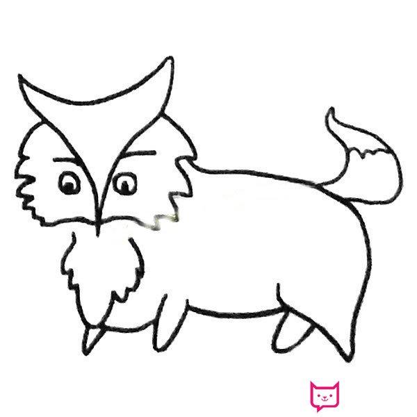表情 动物简笔画大全,狡猾的狐狸简笔画 板报网 表情
