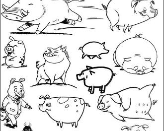 表情 猪的简笔画 猪的简笔画图片 猪的简笔画大全 猪的简笔画下载 翼虎  表情