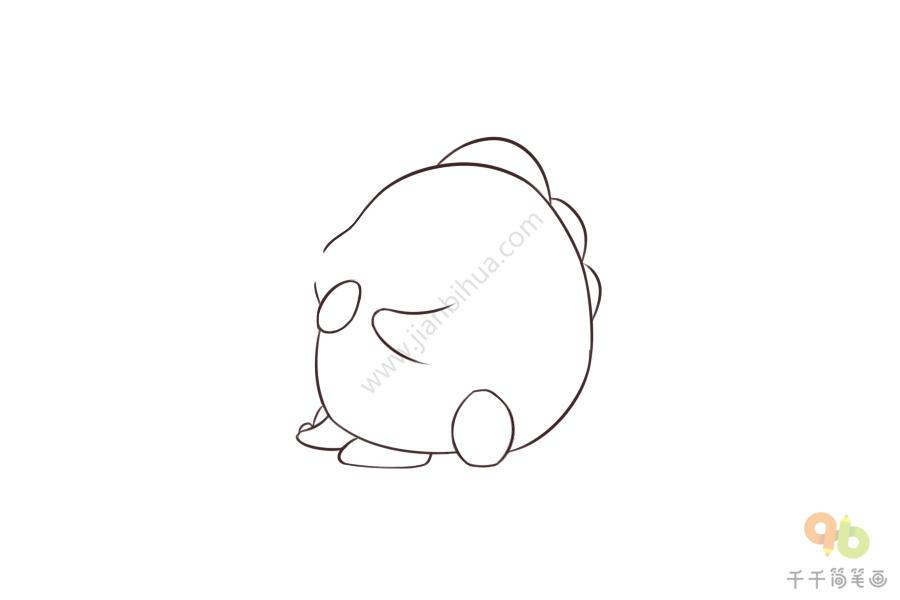 表情 小短手的小青龙简笔画 表情包 千千简笔画移动版 表情