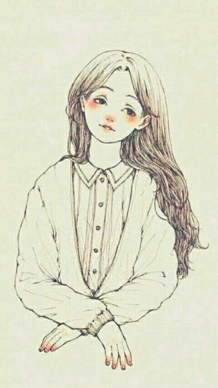 表情 女孩背影手绘图 图片 女孩背影手绘图 表情包gif动画 表情