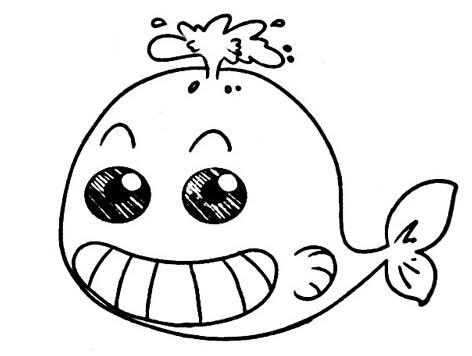 表情 萌萌哒小鲸鱼简笔画,绘画图片,儿童文艺 绘艺素材网 表情