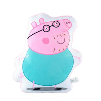 表情 正版小猪佩奇抱枕公仔毛绒玩具乔治恐龙佩佩猪玩偶枕头生日礼物抖音网红  表情
