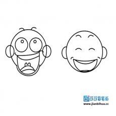表情 人物表情简笔画图片大全 可可简笔画 表情