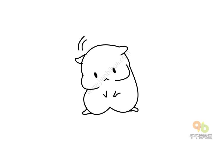 表情 小仓鼠表情 怎么办呢简笔画千千简笔画移动版人人都能轻松画简笔画图片  表情
