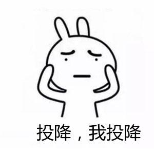 表情 恶搞兔举起双手表情 投降,我投降 九蛙图片 表情