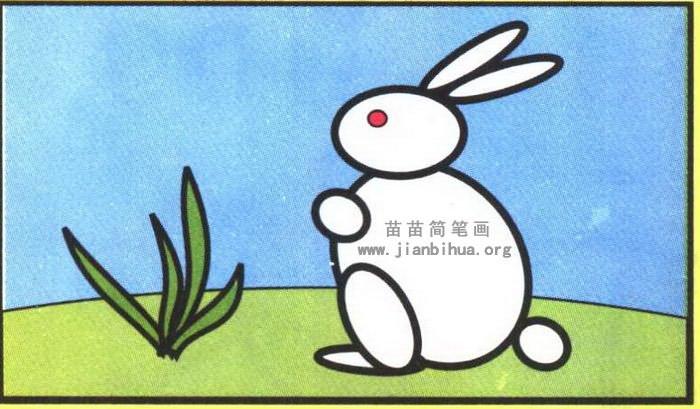 表情 卡通兔子简笔画步骤图解 表情