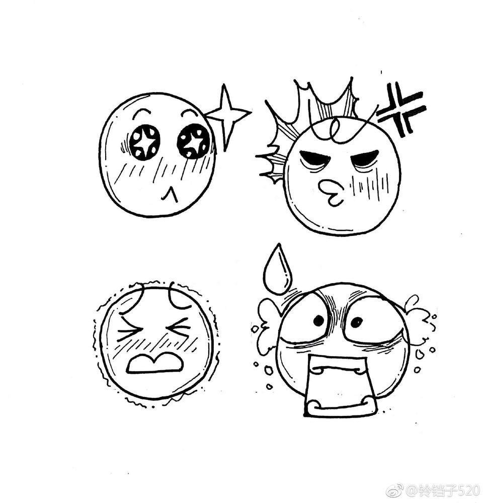 表情 36种人物表情简笔画 千千简笔画 表情