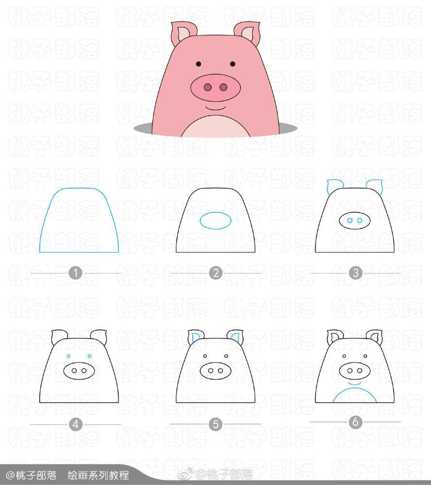 表情 萌萌打地鼠儿童简笔画,3 8岁儿童画 简约型文化普通难度 陆地动物 千  表情