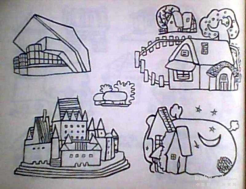 表情 建筑物简笔画图片大全,简笔画建筑物图片大全 共31张图片 建筑物简笔画  表情