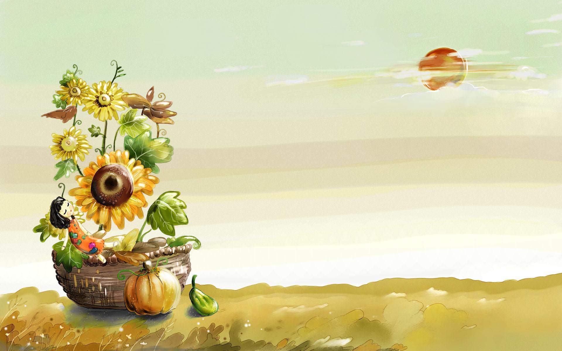 美丽童话风景手绘宽屏壁纸