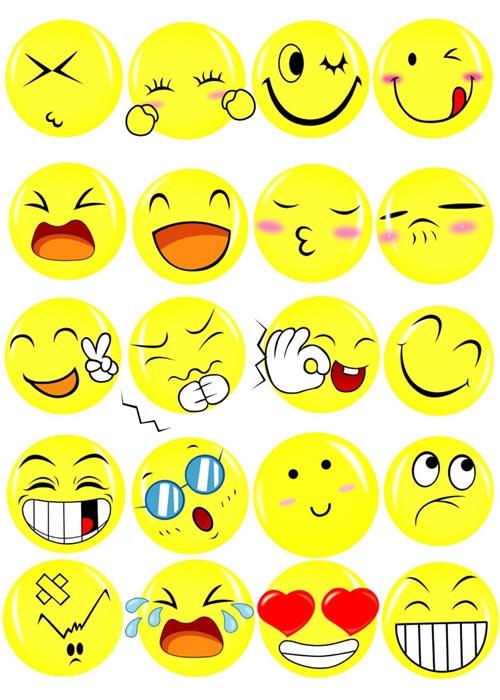 表情 可爱笑脸表情psd素材 爱图网设计图片素材下载 表情