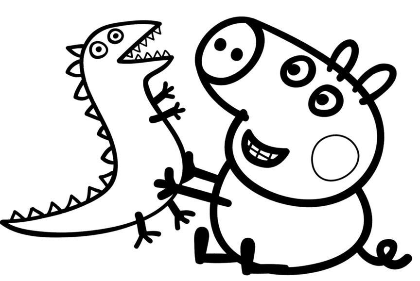 表情 小猪佩奇素描图案 图片大全 表情