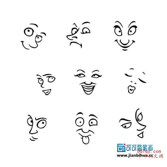 表情 有趣的简笔画表情 生气表情简笔画 表情