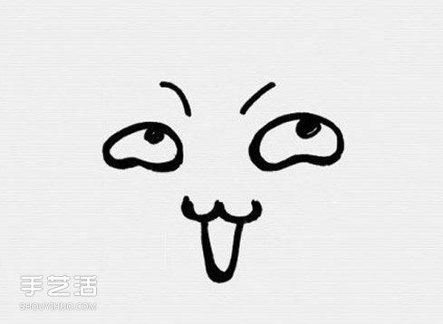 表情 卡通风格表情简笔画简笔画搞怪表情的画法 手工制作,创意DIY手工制作大全 表情