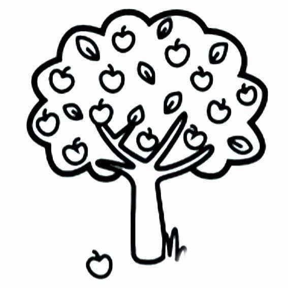 表情 苹果成熟了简笔画 秋天苹果树简笔画 育才简笔画 表情