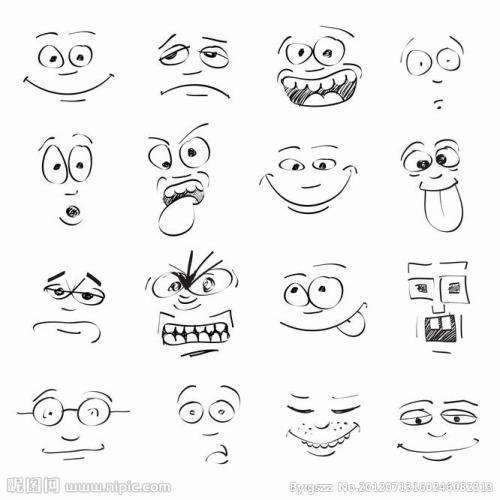 表情 最新手绘简笔画可爱表情 超可爱的小表情简笔画 表情