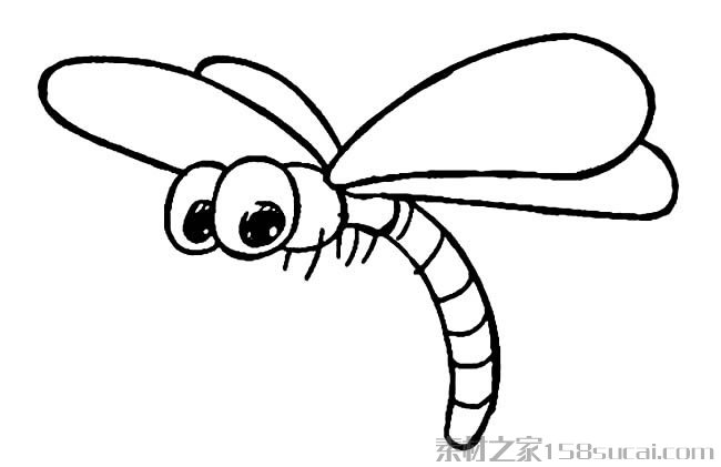 表情 蜻蜓简笔画图片小逗汇智幼教网 表情