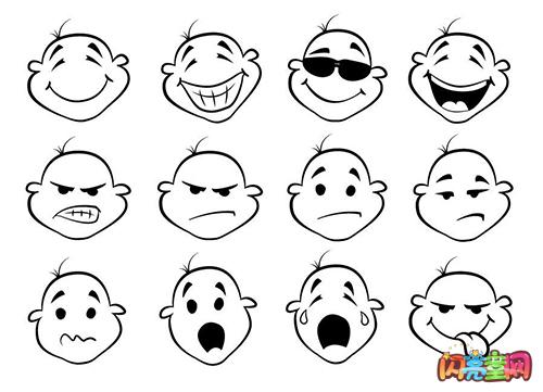 表情 人脸表情简笔画图片 表情图片