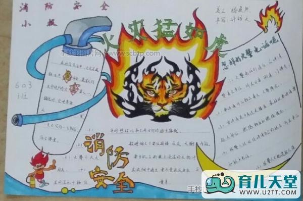 表情 消防安全手抄报简笔画图片,火灾猛于虎 育儿天堂 表情