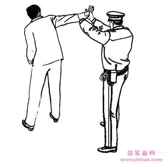 表情 警察抓小偷简笔画图片 简笔画网 表情