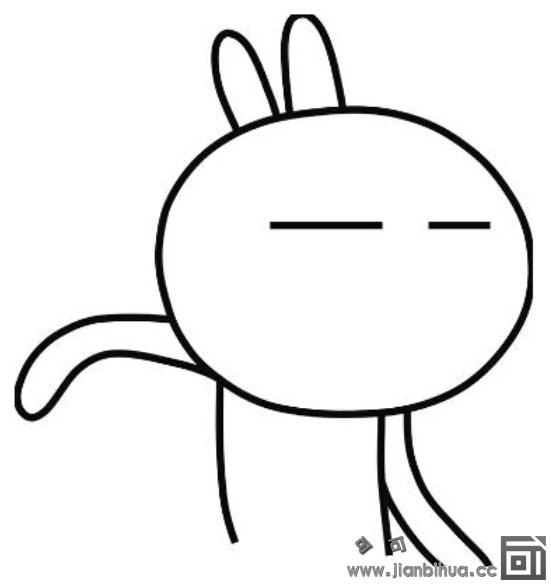 表情 搞笑动作的兔斯基简笔画图片 兔斯基简笔画 亲子简笔画大全 表情