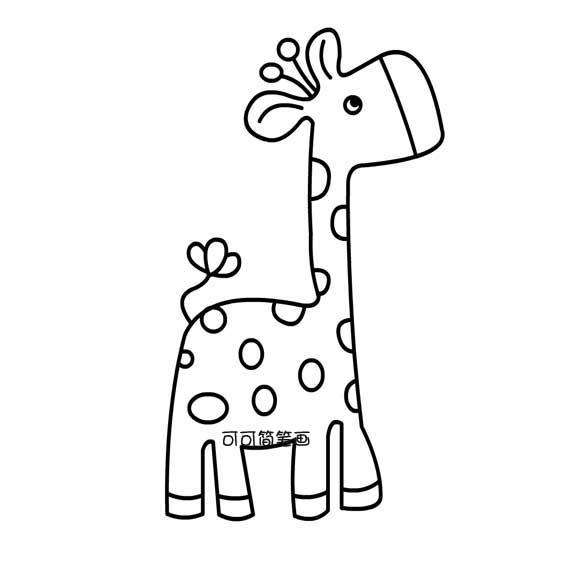 表情 儿童简笔画长颈鹿 动物简笔画 奔跑网 表情
