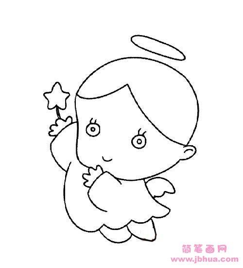 表情 儿童可爱小天使简笔画图片大全 简笔画网 表情