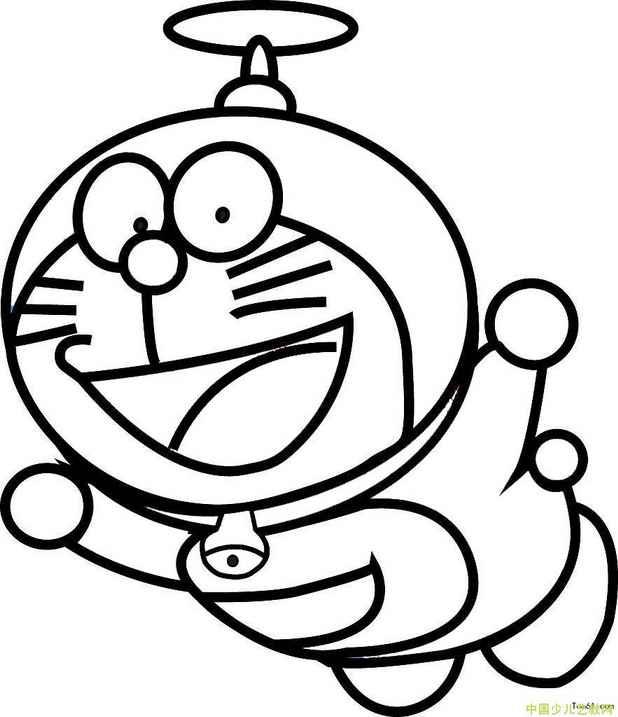 表情 机器猫 简笔画图片 简笔画图片 娱乐 中国少儿艺教网 表情
