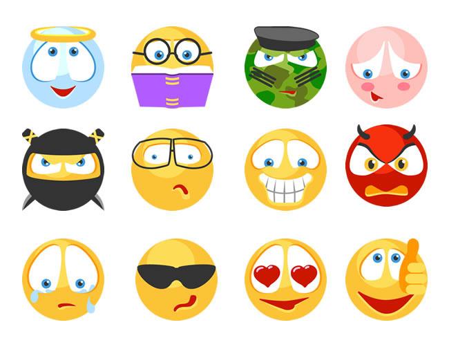 表情 小黄脸搞怪表情图标图片素材 其他格式 下载 大全 网页设计模板 我图网 表情