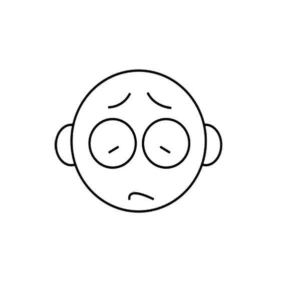表情 人物面部遗憾表情简笔画 第4页 一起QQ网 表情图片