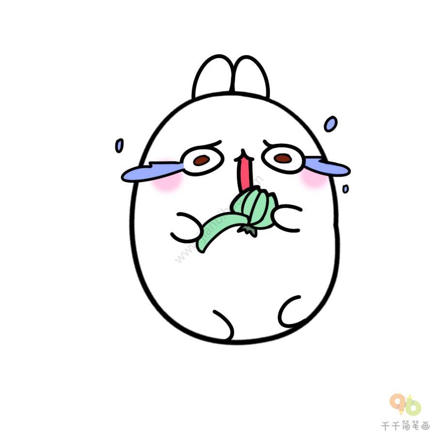 表情 土豆兔剥洋葱表情包 表情包 千千简笔画 表情
