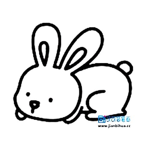表情 儿童画小兔子简笔画,兔子怎么画一步一步教学法 育儿天堂 表情