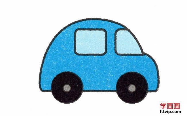 表情 简单小汽车简笔画的画法步骤教程 学画画 表情