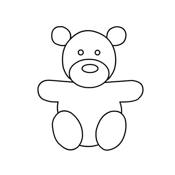 表情 小熊布娃娃简笔画法 坐着的小熊简笔画 育才简笔画 表情