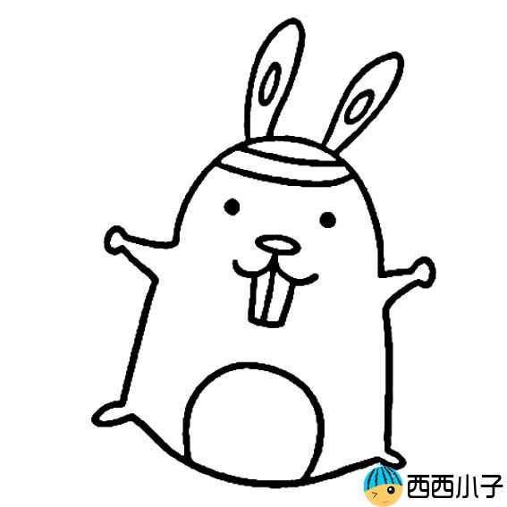 表情 卡通小兔子简笔画图片 格格 表情