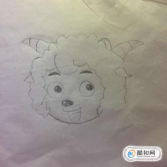 表情 喜羊羊怎么画一步一步教学,喜羊羊简笔画步骤图 酷知经验网 表情