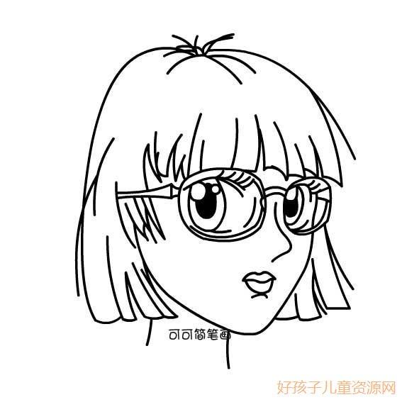 表情 人物简笔画大全女生 简笔画人物 就要健康网 表情