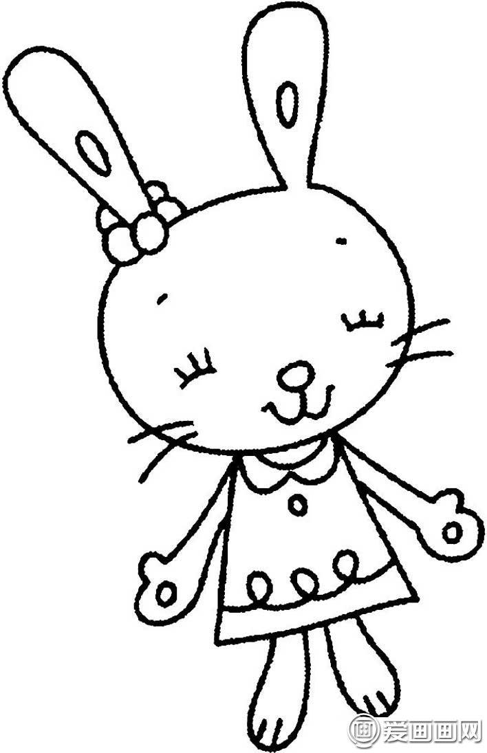 表情 可爱的兔子简笔画图片大全,15只各种各样的卡通简笔画兔子图片 4 龙轩  表情