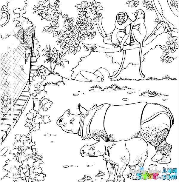 表情 动物卡通简笔画 森林里的动物 动物简笔画 中国婴幼儿教育网 表情