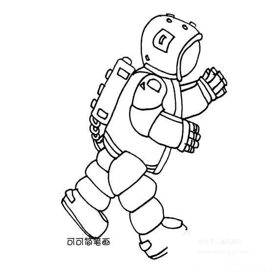 表情 太空行走的宇航员简笔画,太空行走的宇航员的简笔画画法 人物简笔画 表情